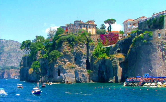 Sorrento Coast from sea