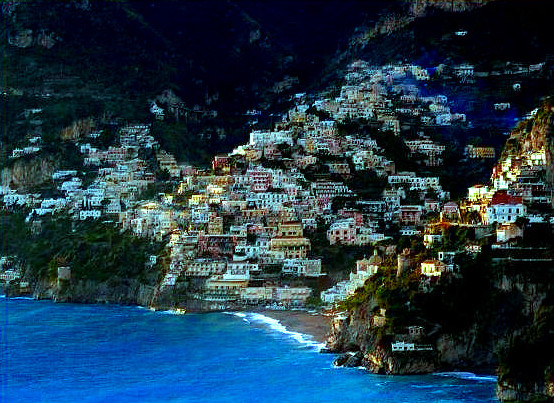 Amalfi Coast Positano View from sea